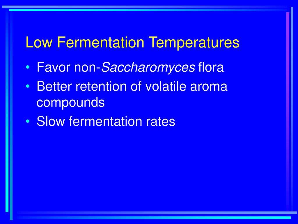 Low Fermentation Temperatures