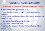 international tourism outlook 2005