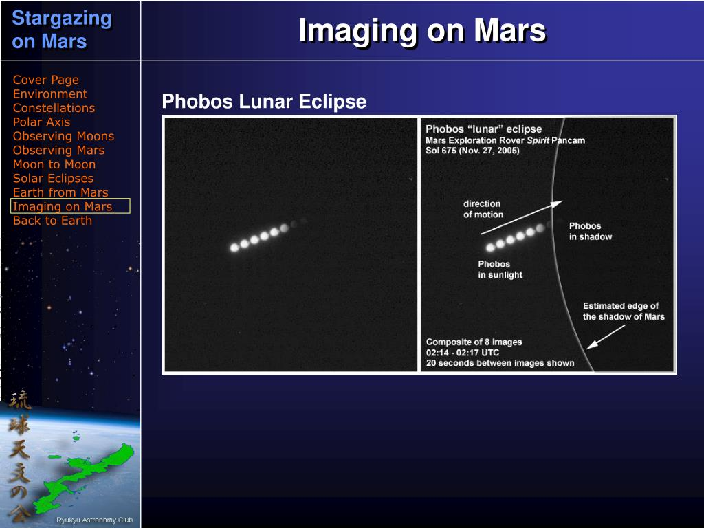 Imaging on Mars