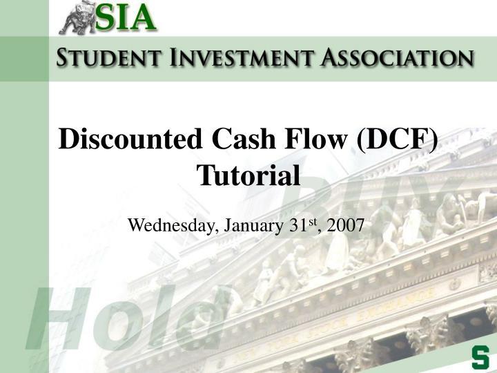 discounted cash flow dcf tutorial n.