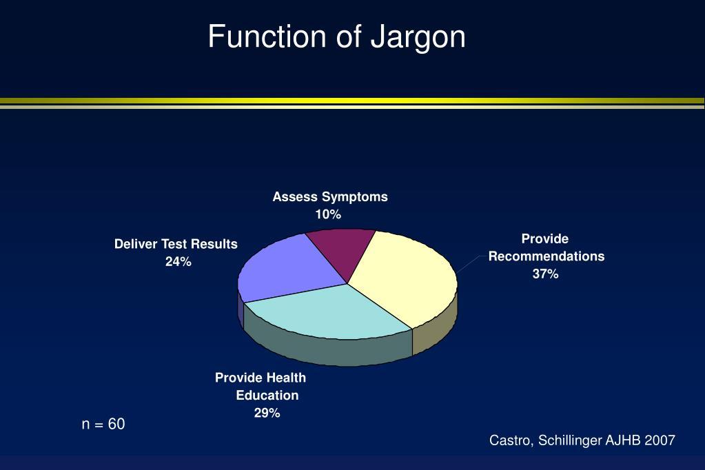 Function of Jargon