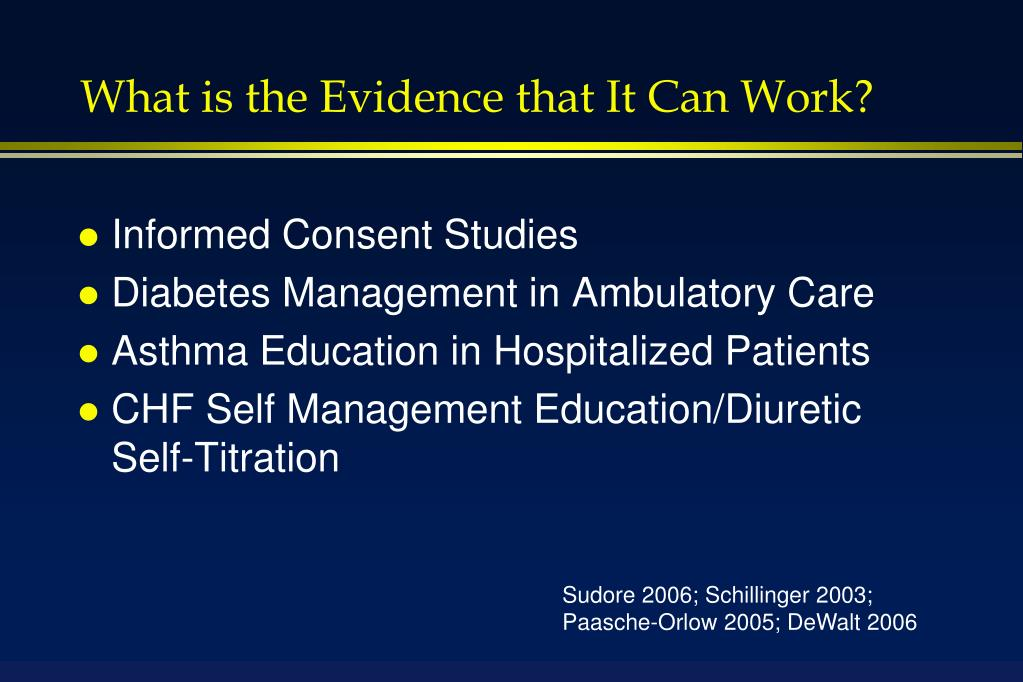What is the Evidence that It Can Work?
