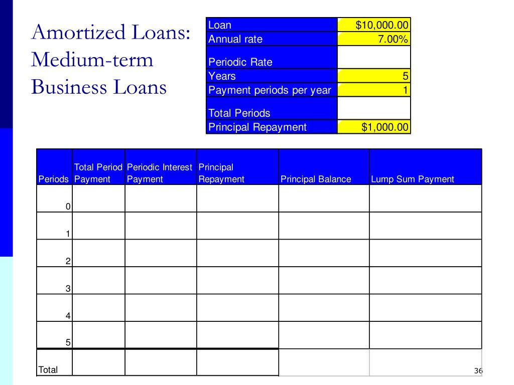 Amortized Loans: