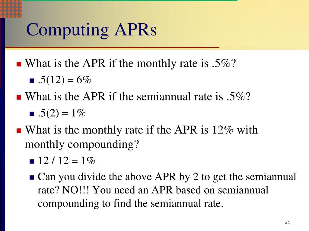 Computing APRs