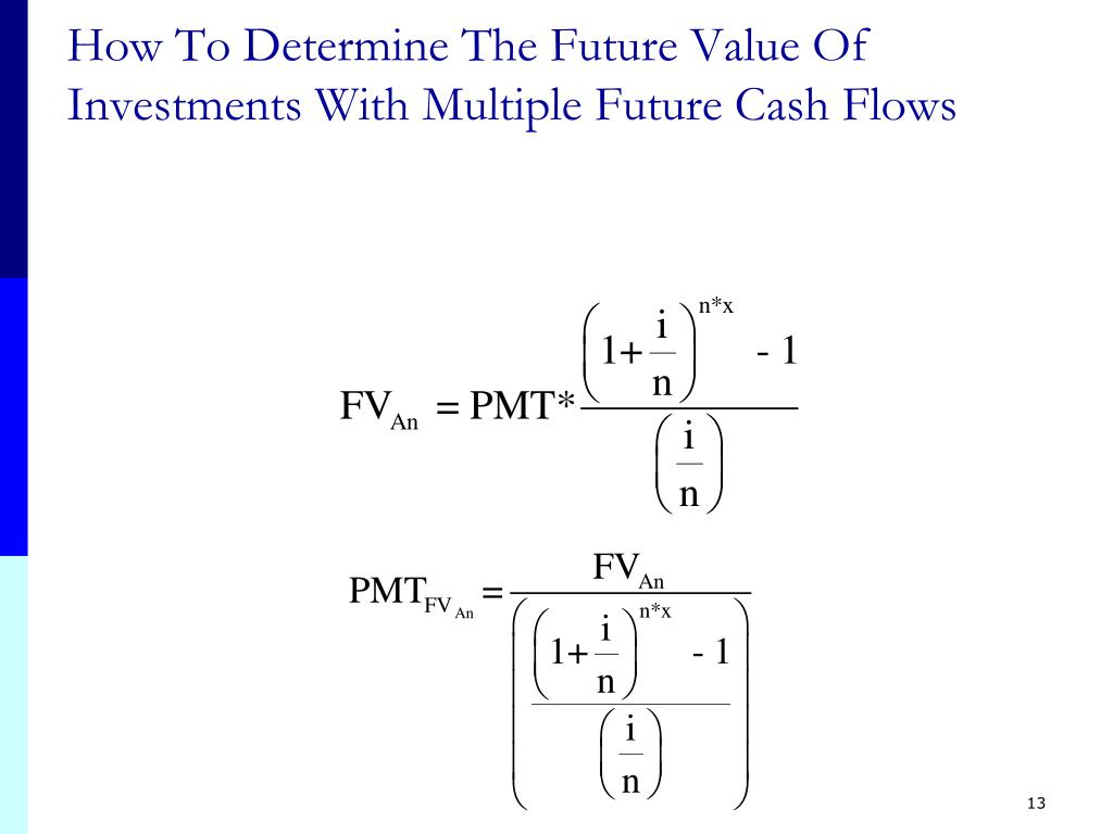 How To Determine The Future Value Of Investments With Multiple Future Cash Flows