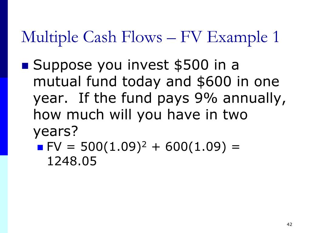 Multiple Cash Flows – FV Example 1