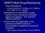 nnrti multi drug resistance