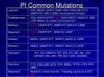 pi common mutations
