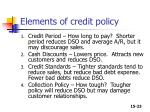 elements of credit policy