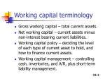 working capital terminology