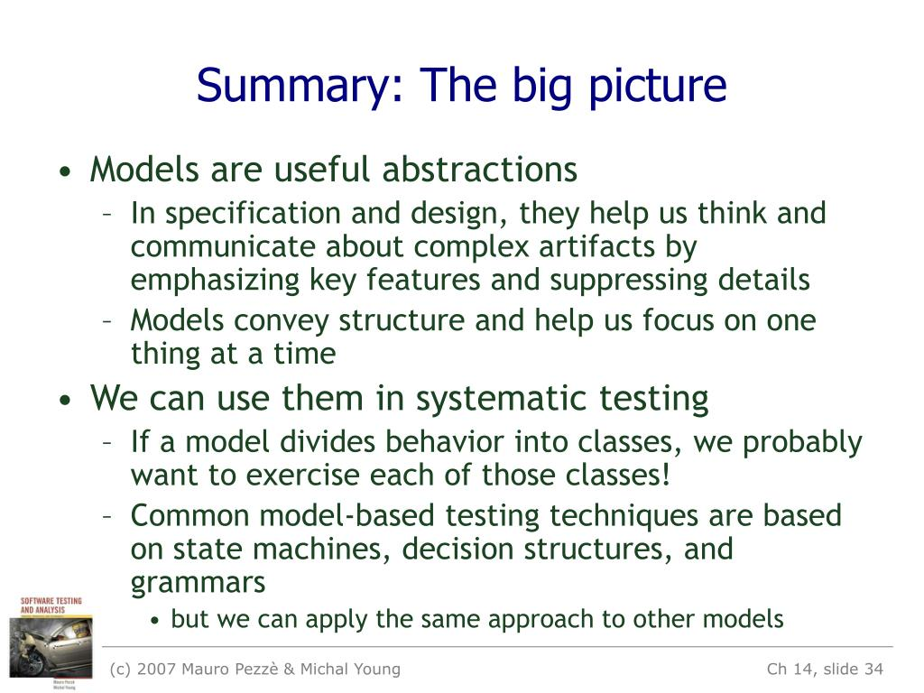 Summary: The big picture