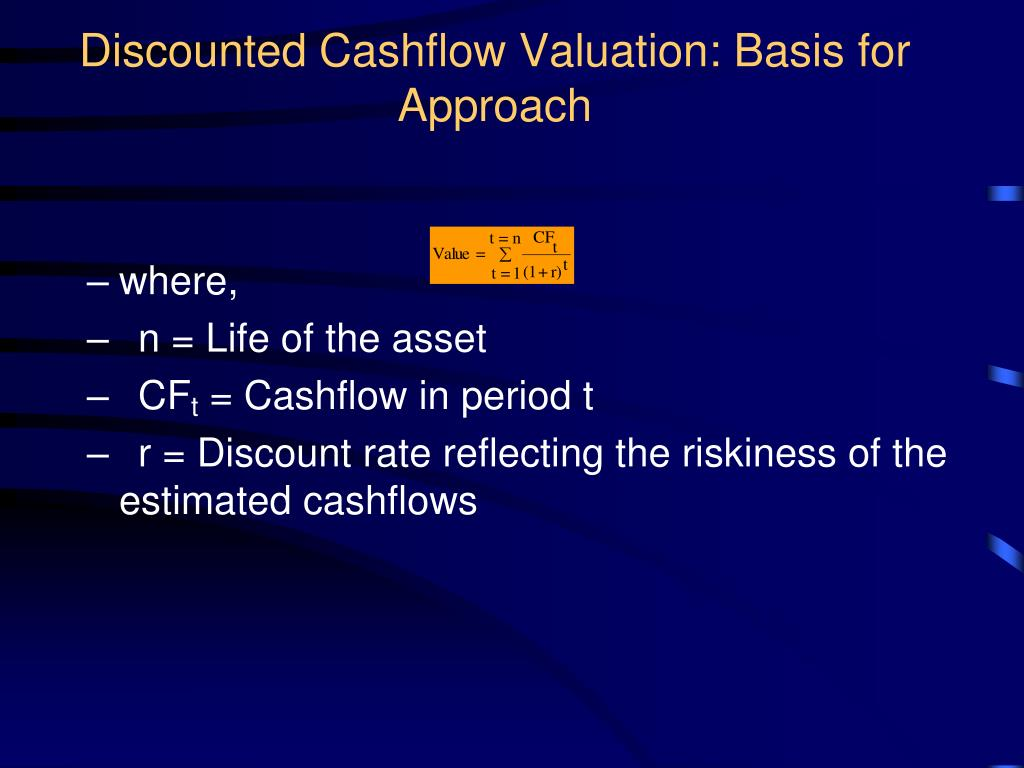 Discounted Cashflow Valuation: Basis for Approach