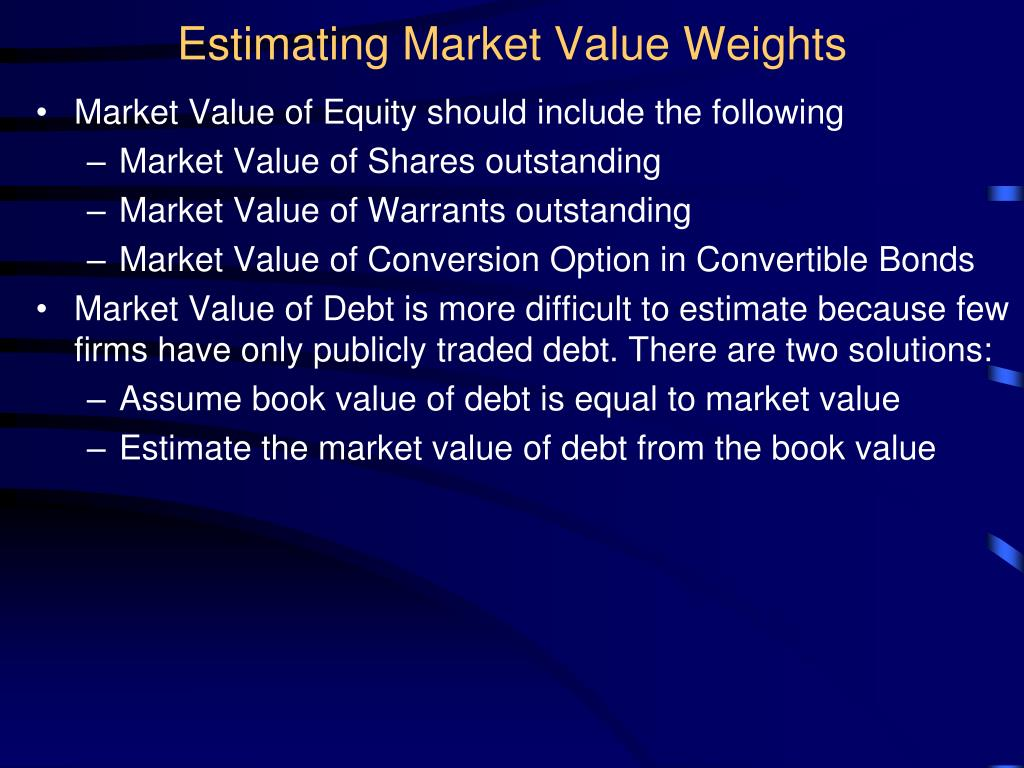 Estimating Market Value Weights