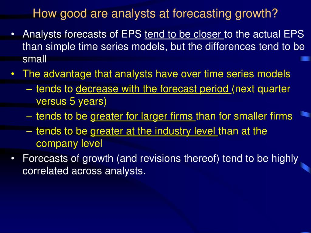 How good are analysts at forecasting growth?