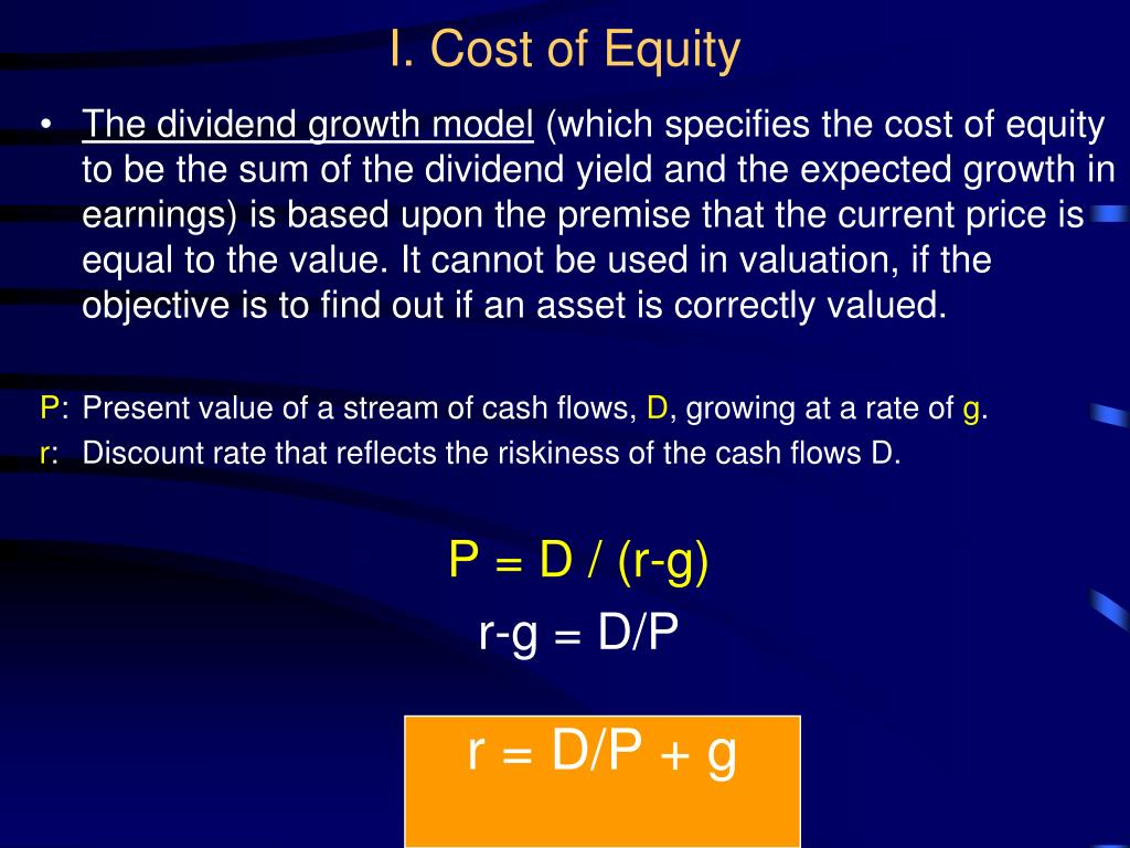 I. Cost of Equity