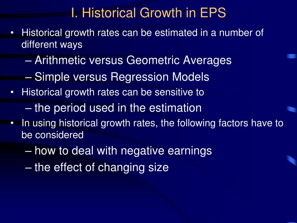 I. Historical Growth in EPS