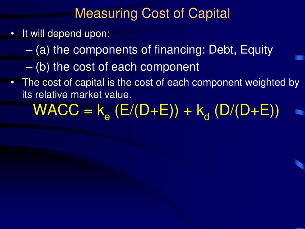 Measuring Cost of Capital
