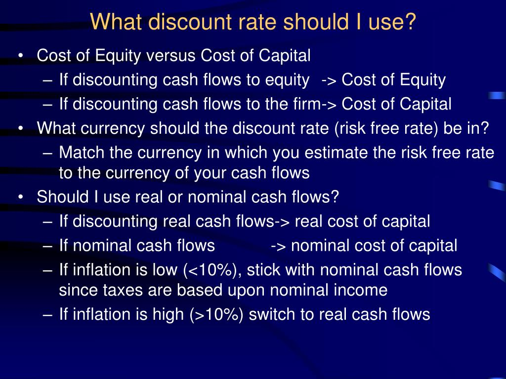 What discount rate should I use?