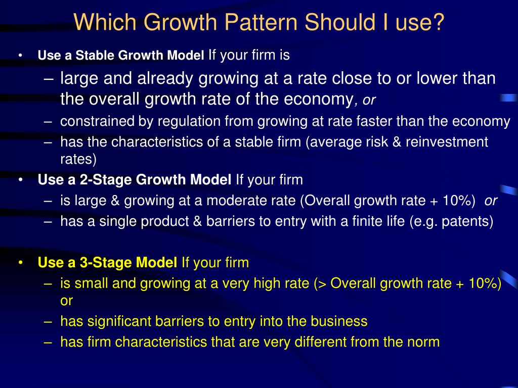 Which Growth Pattern Should I use?