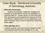 case study swinburne university of technology australia
