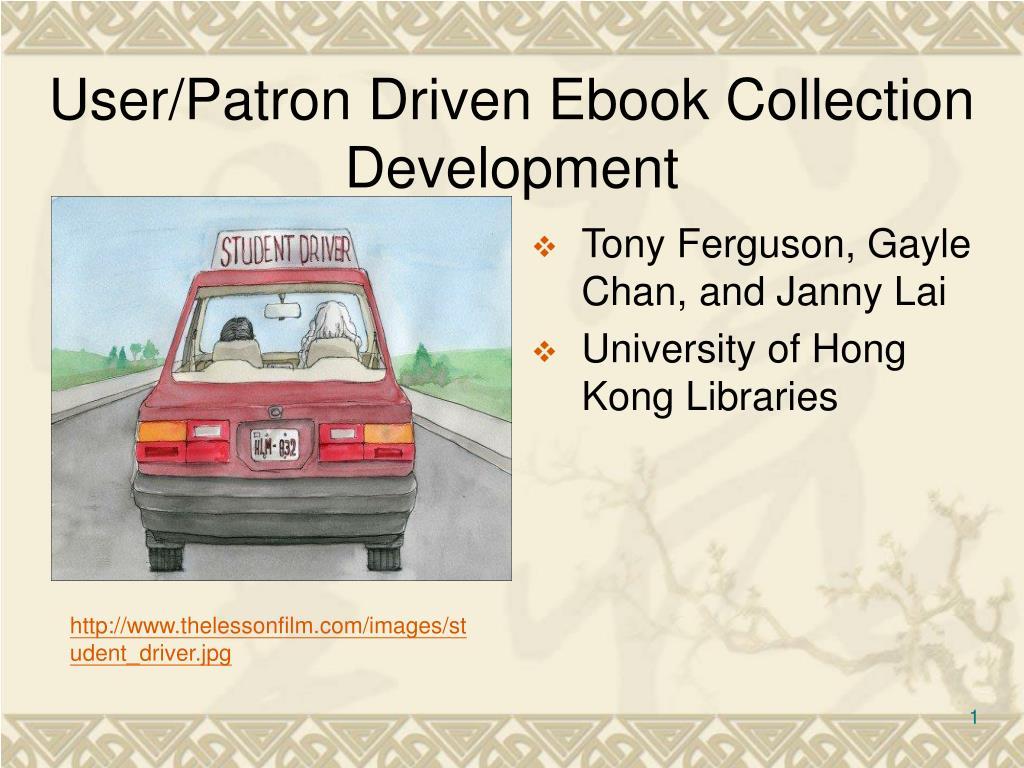 user patron driven ebook collection development l.
