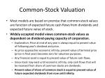 common stock valuation29