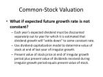 common stock valuation33