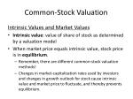 common stock valuation37