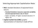 selecting appropriate capitalization rates5