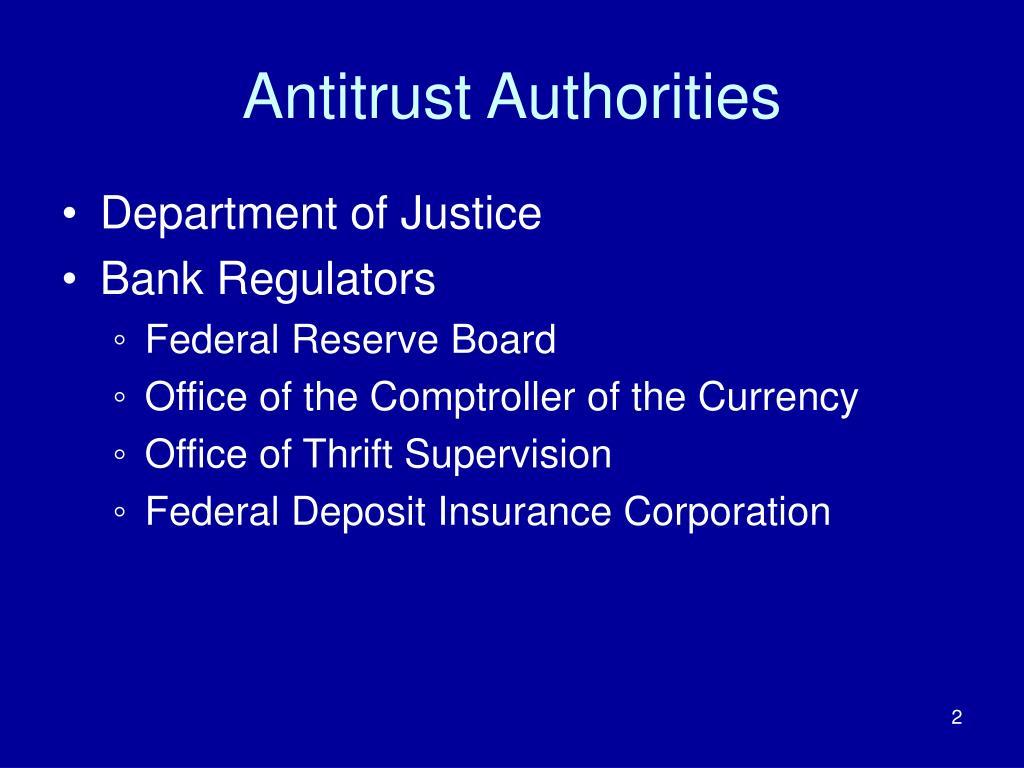 Antitrust Authorities