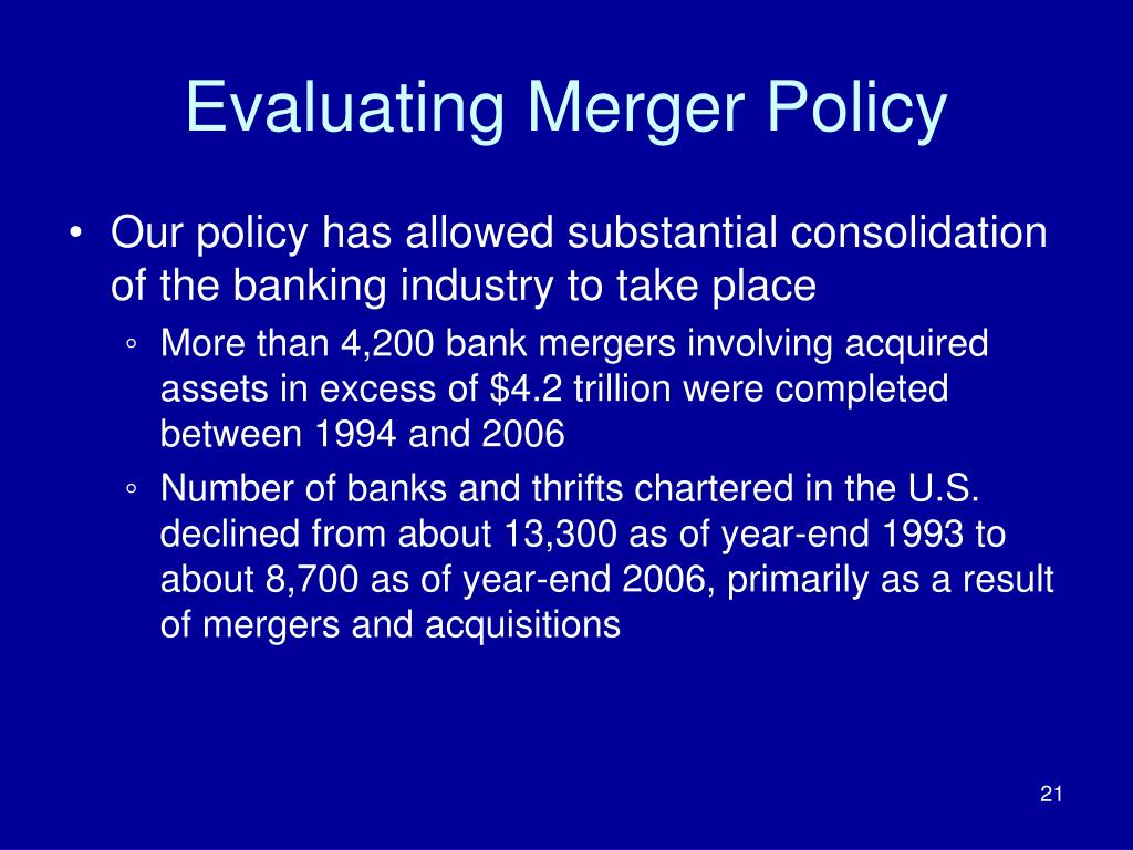 Evaluating Merger Policy