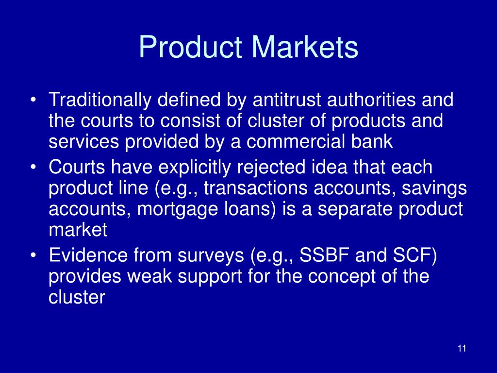 Product Markets
