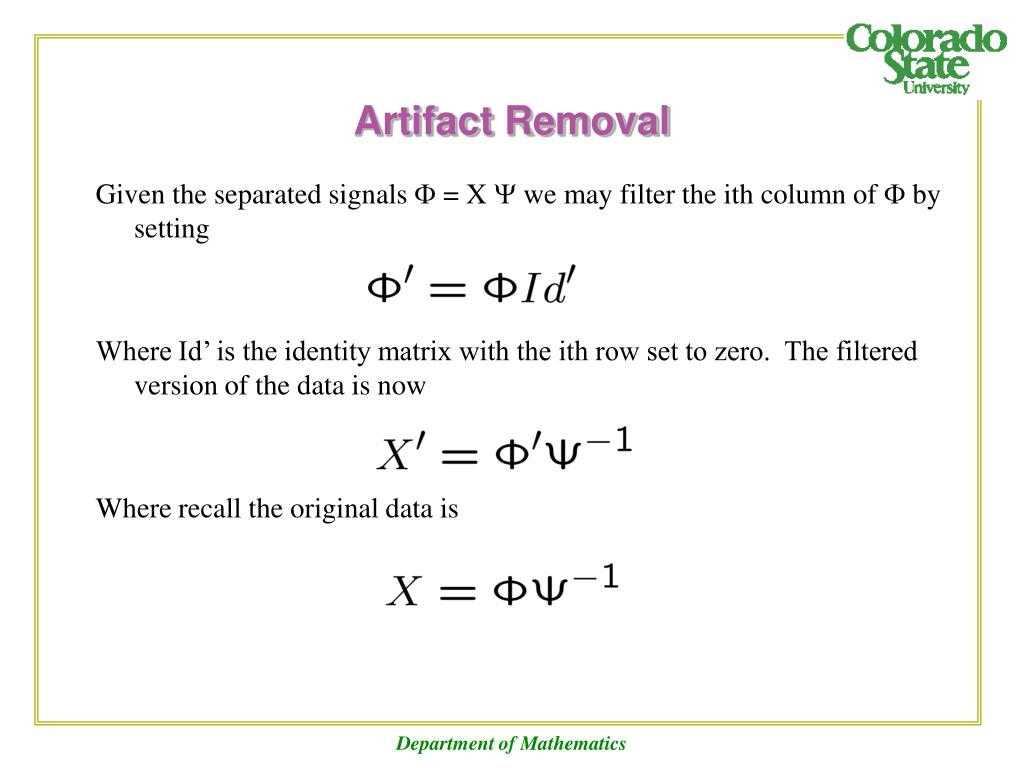 Artifact Removal