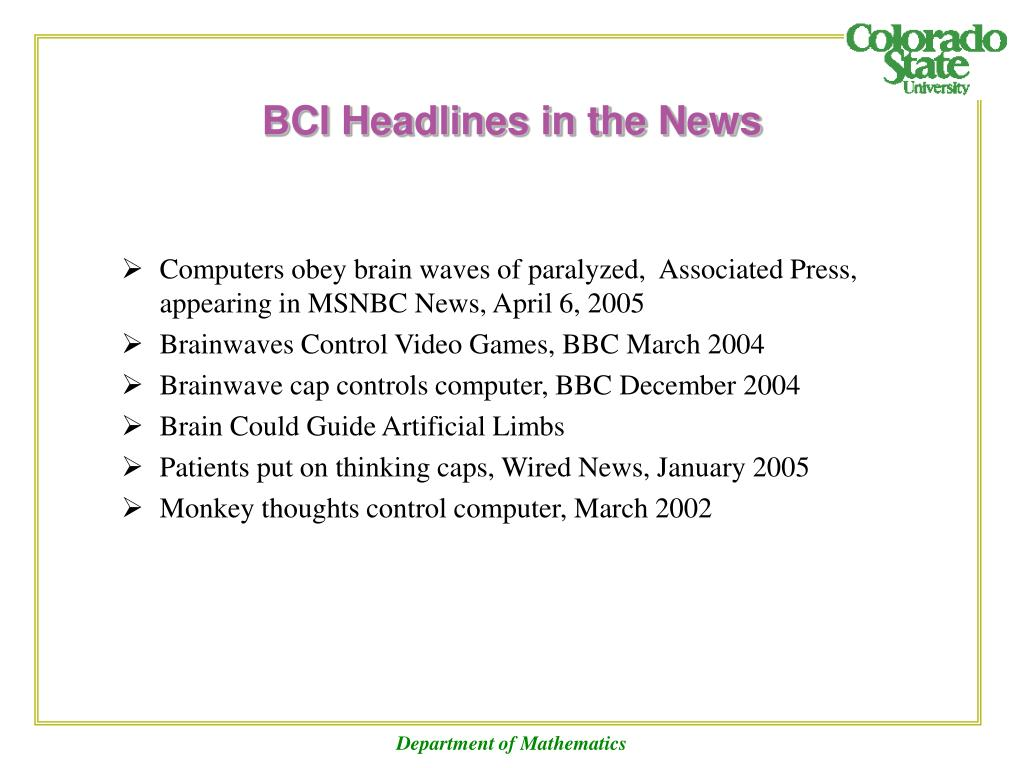BCI Headlines in the News