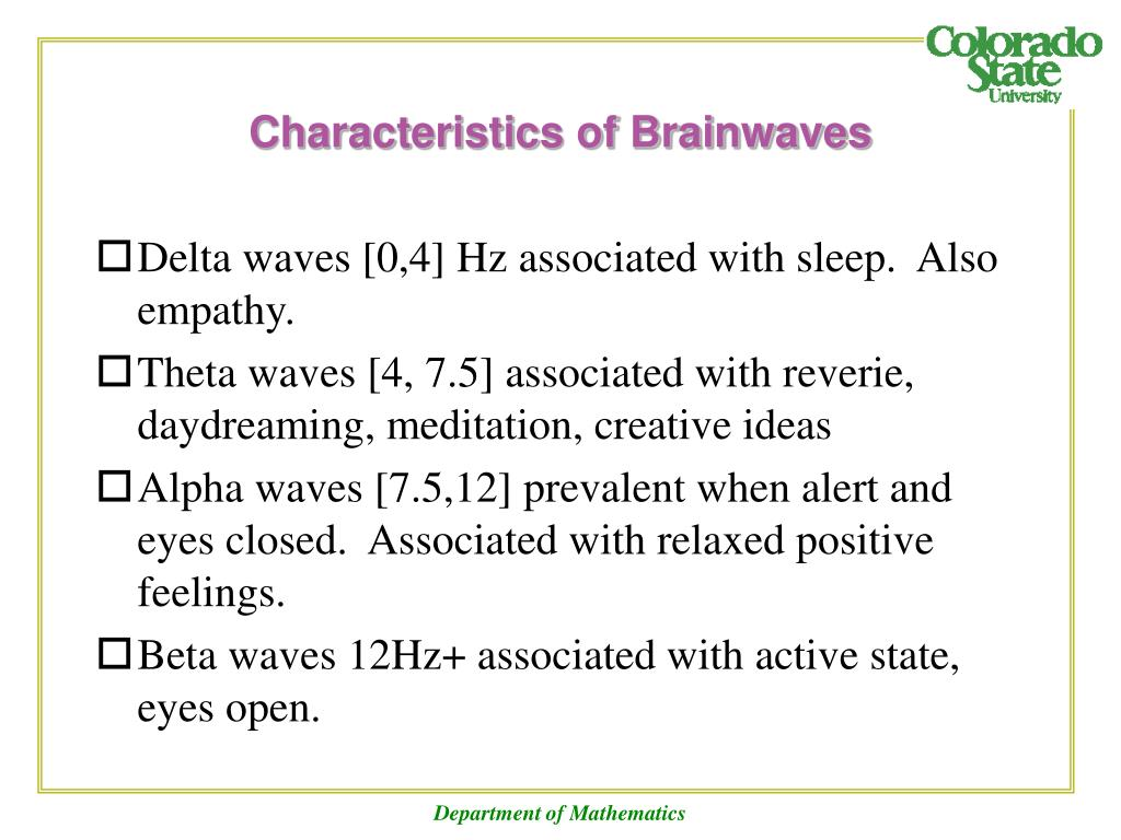 Characteristics of Brainwaves