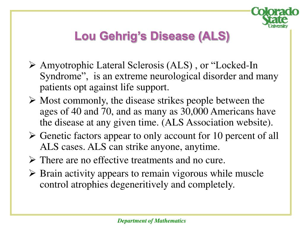 description of lou gherigs disease