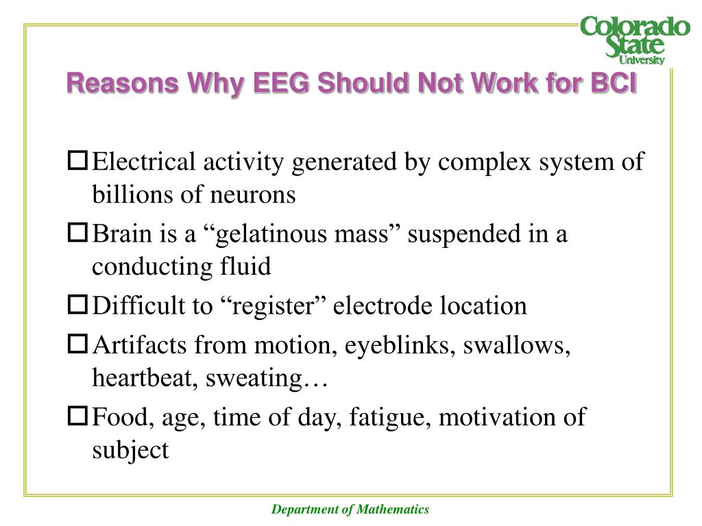 Reasons Why EEG Should Not Work for BCI