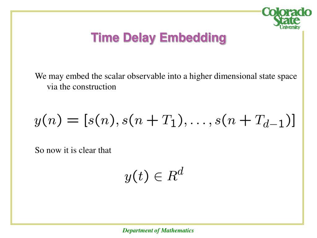 Time Delay Embedding