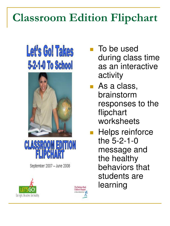 Classroom Edition Flipchart