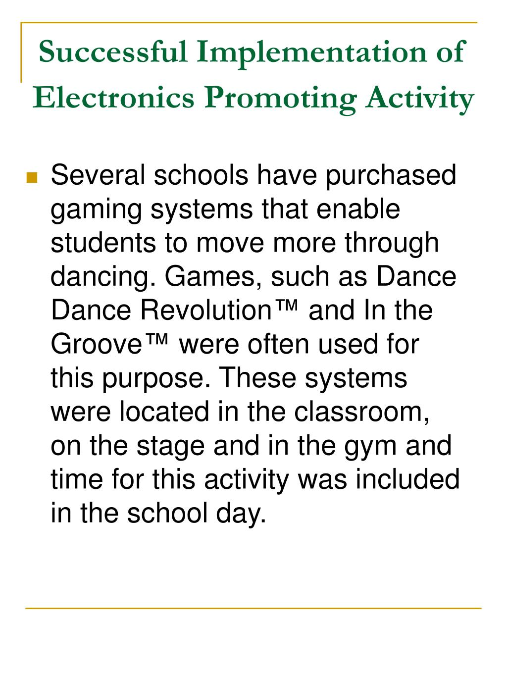 Successful Implementation of Electronics Promoting Activity