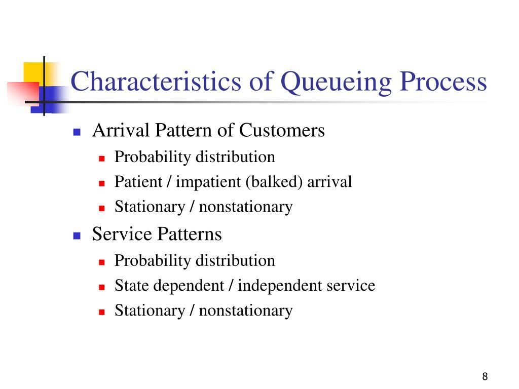 Characteristics of Queueing Process