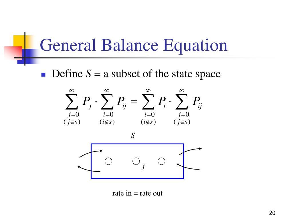 General Balance Equation