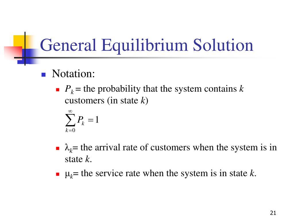 General Equilibrium Solution
