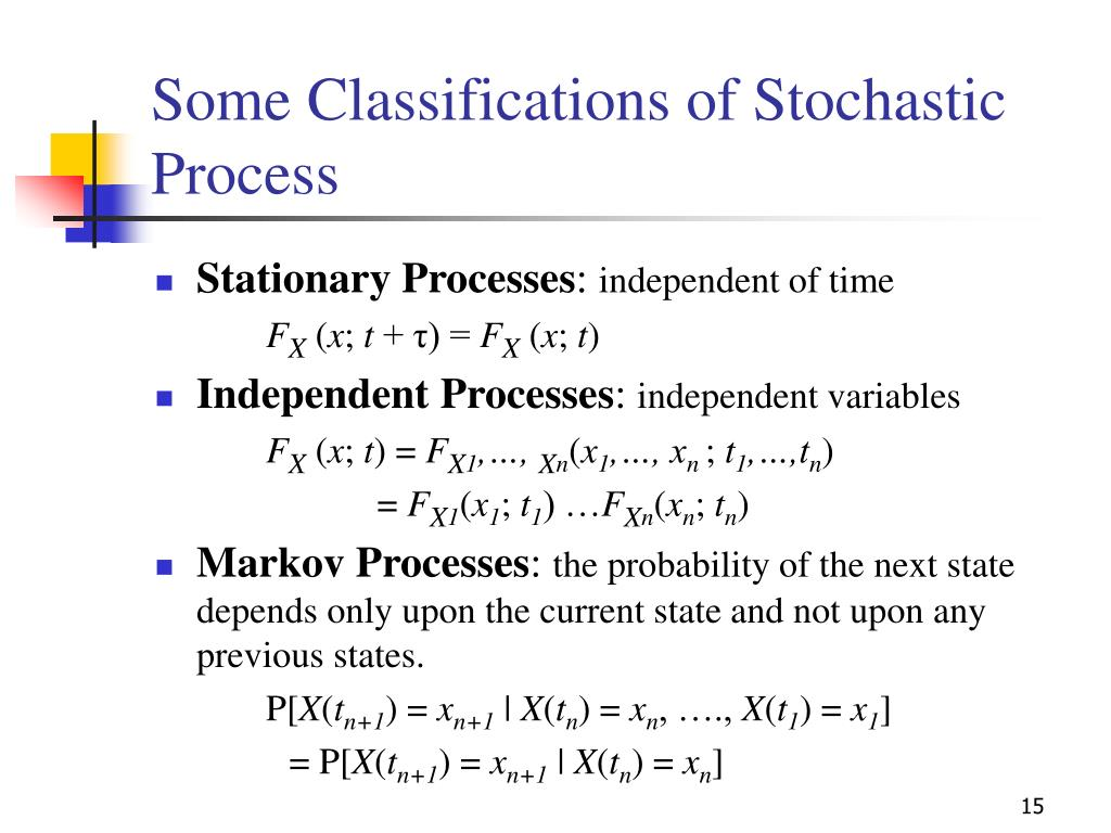 Some Classifications of Stochastic Process