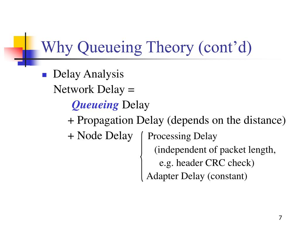 Why Queueing Theory (cont'd)