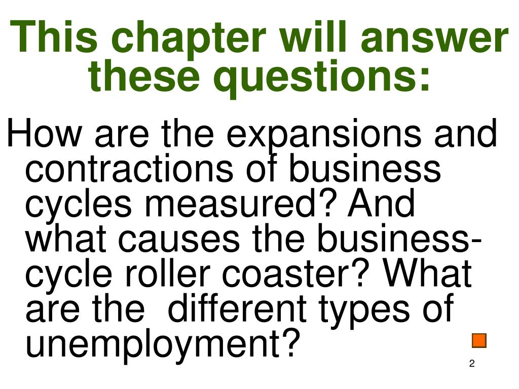 This chapter will answer these questions: