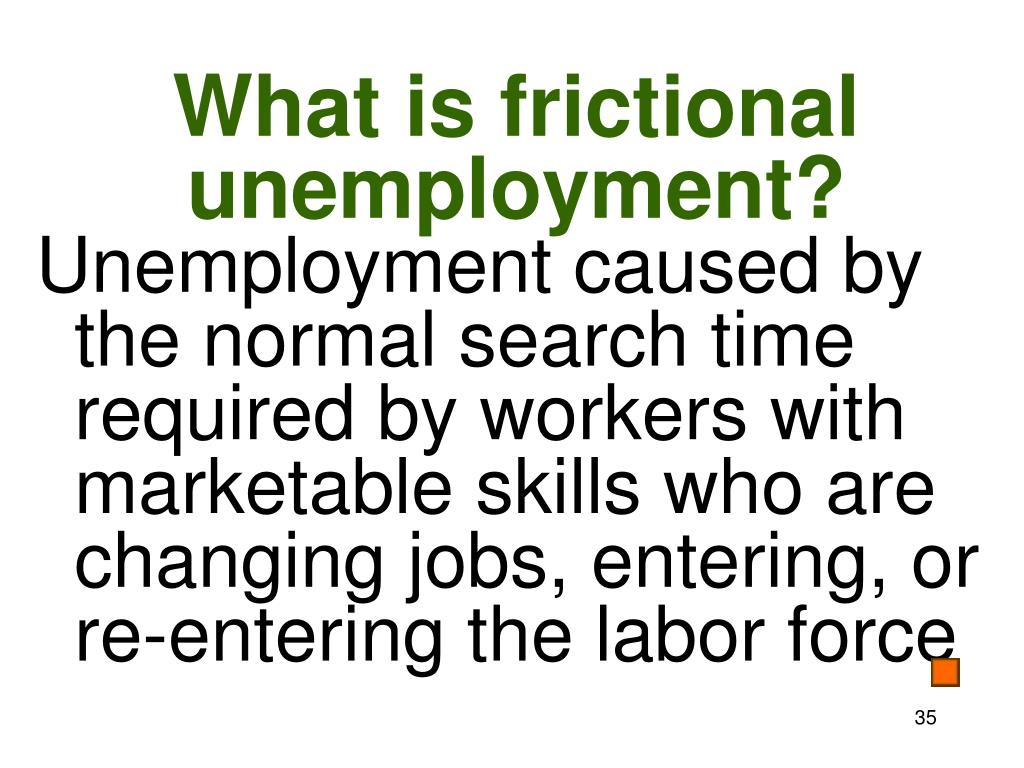 What is frictional unemployment?