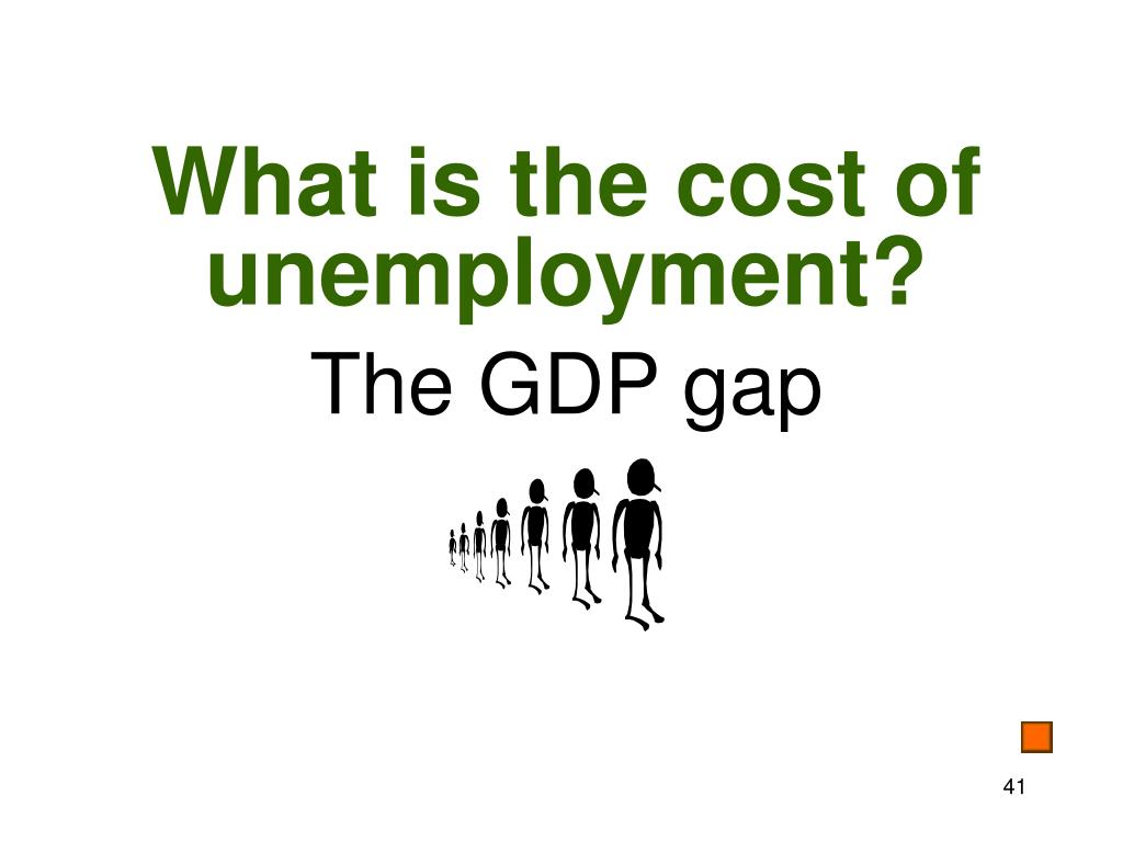 What is the cost of unemployment?