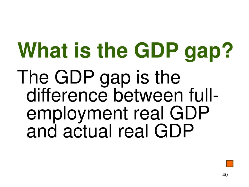 What is the GDP gap?