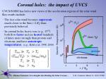 coronal holes the impact of uvcs